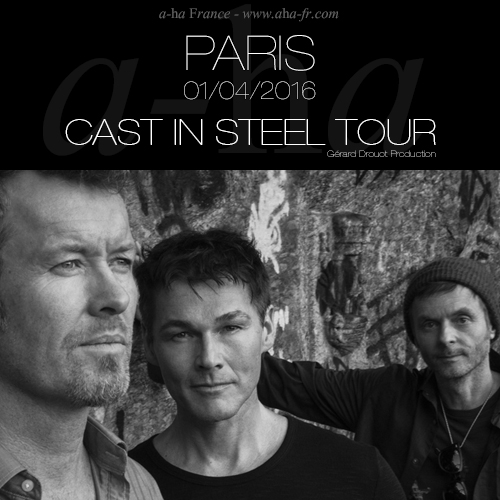 Officiel : a-ha au Zénith de Paris le 1er avril 2016