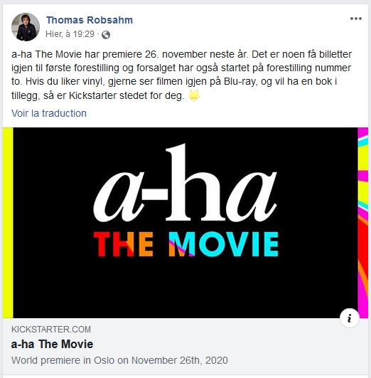 a-ha the movie - le film