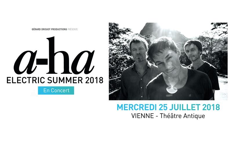 Concert exceptionnel de a-ha à Vienne (Isère) le 25 Juillet 2018